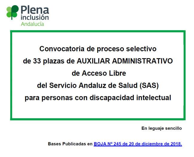 Plazas Auxiliar Administrativo/a del SAS