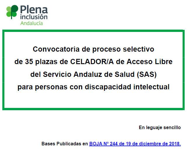 Convocatoria de proceso selectivo celador/a